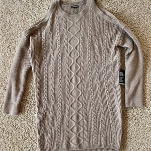Express Knit Cable Sweater Dress